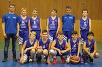 L'équipe des minimes garçons du basket-club CSSPP Waldighoffen.