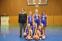 L'équipe des poussines 1 du basket-club CSSPP Waldighoffen.