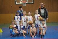 Léquipe des mini-poussins du basket-club CSSPP Waldighoffen.