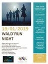 Affiche Wald'run night du 19 janvier 2019.