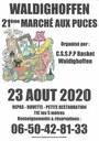Affiche du 21ème marché aux puces organisé par le basket-club CSSPP Waldighoffen.
