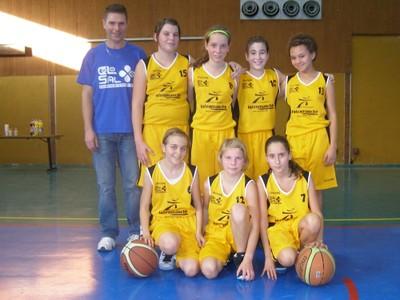 Les benjamines 1 du basket-club CSSPP Waldighoffen.