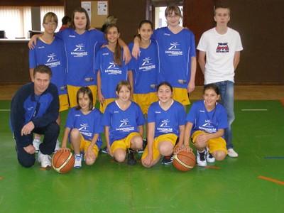 Les benjamines 2 du basket-club CSSPP Waldighoffen.