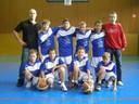 L'équipe des benjamins 1 du basket-club CSSPP Waldighoffen;