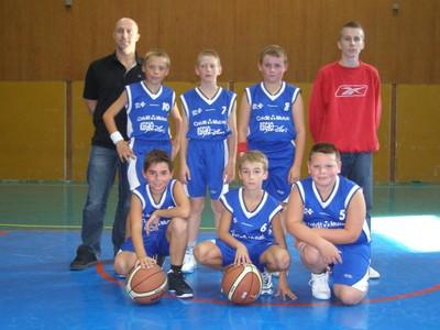 L'équipe des benjamins 2 du basket-club CSSPP Waldighoffen.