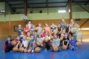 Le groupe des mini-poussins du basket-club CSSPP Waldighoffen de la saison 2017/2018.