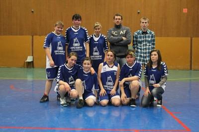 L'équipe 2 des minimes filles du basket-club CSSPP Waldighoffen.