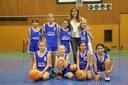 L'équipe des poussines du basket-club CSSPP Waldighoffen de la saison 2014/2015.