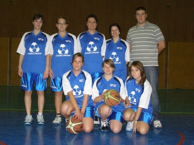 L'équipe senior féminine du Basket-club CSSPP Waldighoffen.