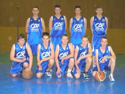 L'équipe des seniors garçons 2 du basket-club CSSPP Waldighoffen.