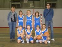 L'équipe des poussines 2 du basket-club CSSPP Waldighoffen.