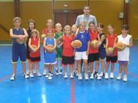 Le groupe des poussines du basket-club CSSPP Waldighoffen.
