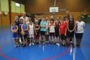 Le groupe des poussins-poussines du basket-club CSSPP Waldighoffen 2013/2014.