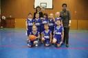 L'équipe des mini-poussins 1 du basket-club CSSPP Waldighoffen 2013/2014.