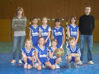 Les mini-poussins du Basket-club CSSPP Waldighoffen.