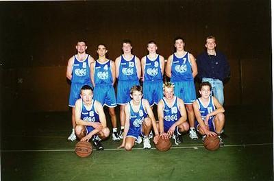 L'équipe des cadets du basket-club CSSPP Waldighoffen de la saison 200/2001