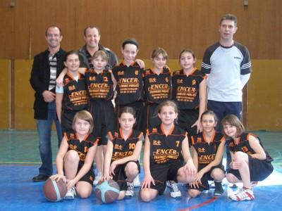 les poussines du basket-club CSSPP Waldighoffen saison 2009/2010.