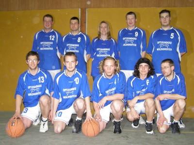 L'équipe des séniors garçons du basket-club CSSPP Waldighoffen de la saison 2005/2006