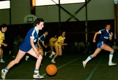 Photo du match aller de la finale régionale des seniors filles.