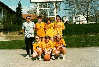 Les minimes féminines de la saison 1985/1986