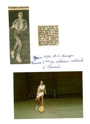 Une jeune basketteuse classée au critérium du jeune basketteur.