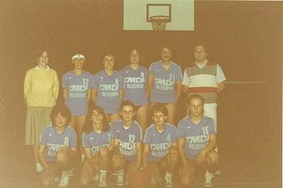 Les minimes féminines du basket-club CSSPP Waldighoffen de la saison 84/85.