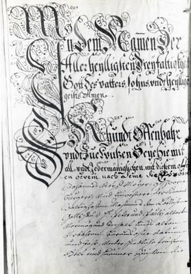 Urbaire de 1744 de Grentzingen
