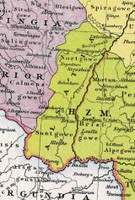 carte de l'Alsace vers l'an mil