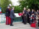 Inauguration du pont Jean de Loisy - dévoilement plaque