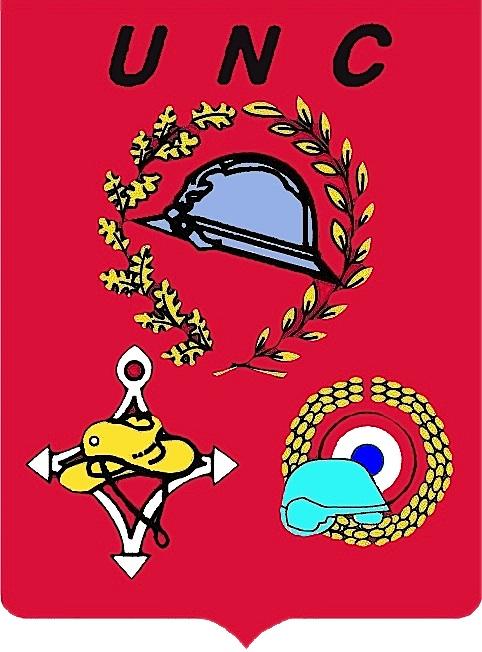 Logo UNC sur fond rouge