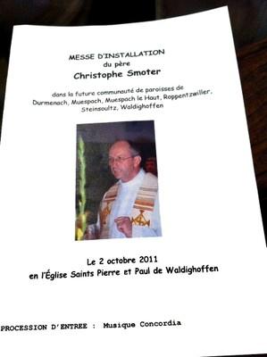 01 Messe d'installation du Père Christophe SMOTER