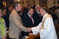Le curé Smoter salue les élus-Fessenheim