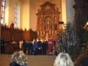 Les enfants et le père Christophe à la fête patronale 2012