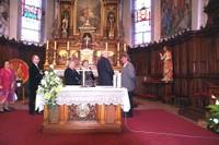 Dans l'église de Durmenach en présence du maire D. Springinsfeld