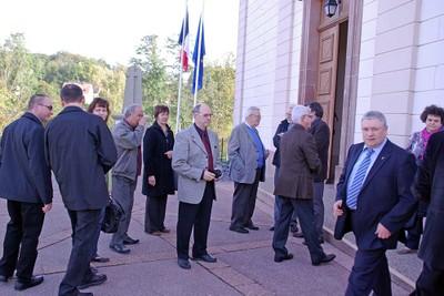 20 octobre 2012 à Muespach, accueil par l'EAP et le maire Roland Haller