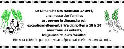 Messe des familles Dimanche des rameaux 2011