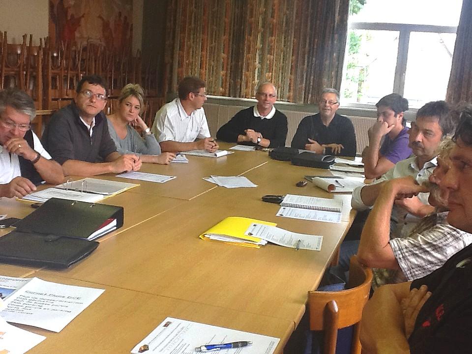 2012/08/30 Réunion de démarrage du chantier de l'église 2