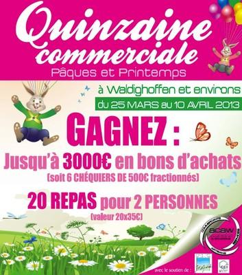 Affiche commerciale Pâques Acaw 2013