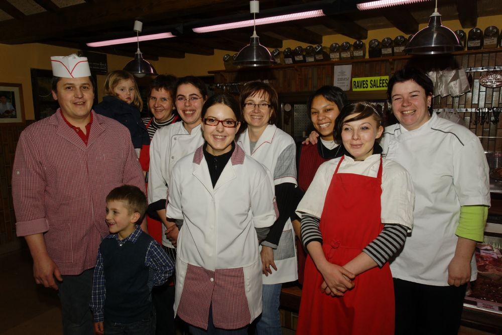 Toute l'équipe de la Boucherie Weigel