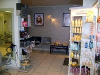 Salle d'attente du salon de coiffure Idéal'Tiff