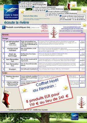 Coffret Noël 2010 Produits Cosmétiques bio ELR Femme