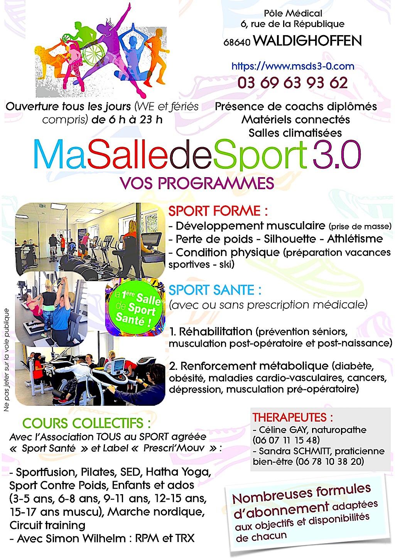 "Flyer ""Ma Salle de Sport 3.0"""