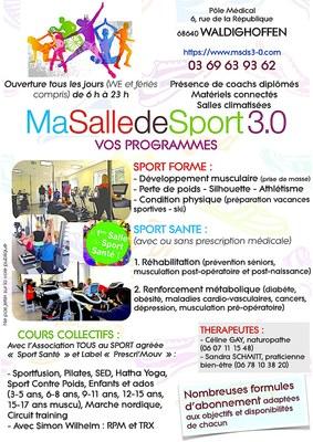 Flyer Ma Salle De Sport 3 0 Waldighoffen
