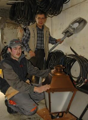 entretiens des lampadaires a waldighoffen