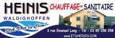 L'affiche des Ets Heinis à Waldighoffen