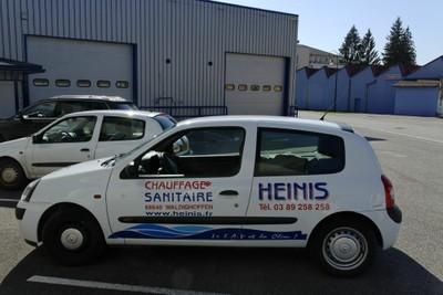 Le véhicule de Chauffage et Sanitaire Heinis