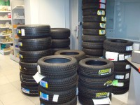 Le stock de pneus hiver du Garage Dresch à Waldighoffen