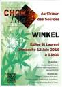Affiche concert Chorilla Winkel 12 juin 2016