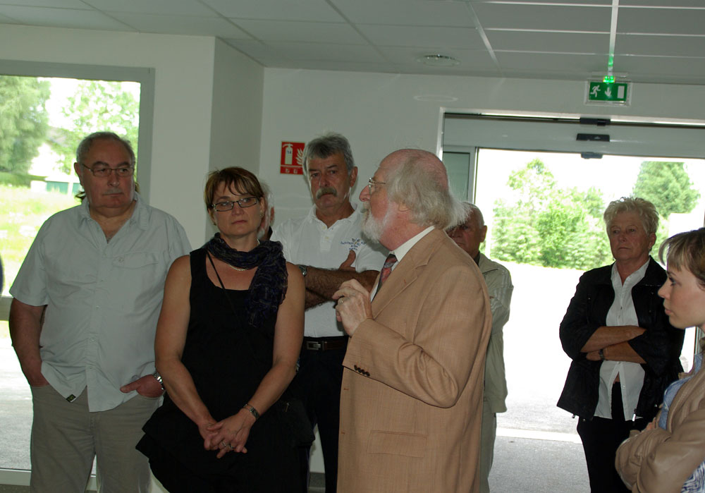 Antoine Lang et quelques invités de la visite