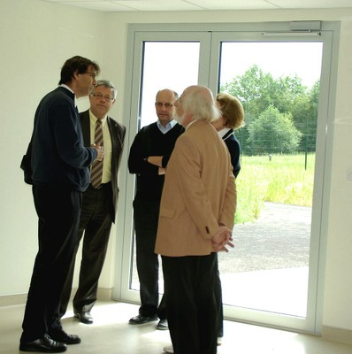 Eric Yapoudjian, Henri Hoff, le père Christophe Smoter, Antoine et Sigrun Lang